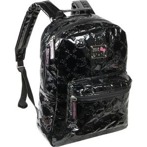 Hello Kitty / Loungefly black patent leather bag